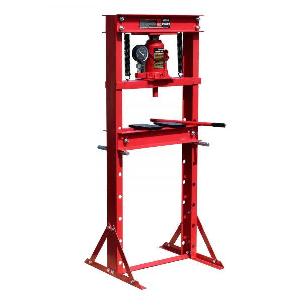 Hidraulikus prés, műhelyprés nyomásmérővel, 12 t nyomáserő