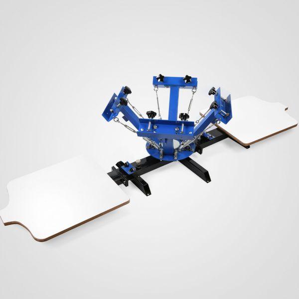 55a16ba533 Kézi szitanyomó gép, textilnyomó karusszel, 4 szín, 2 asztal ...