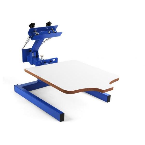 Kézi szitanyomó gép, textilnyomó karusszel, 1 szín, 1 asztal