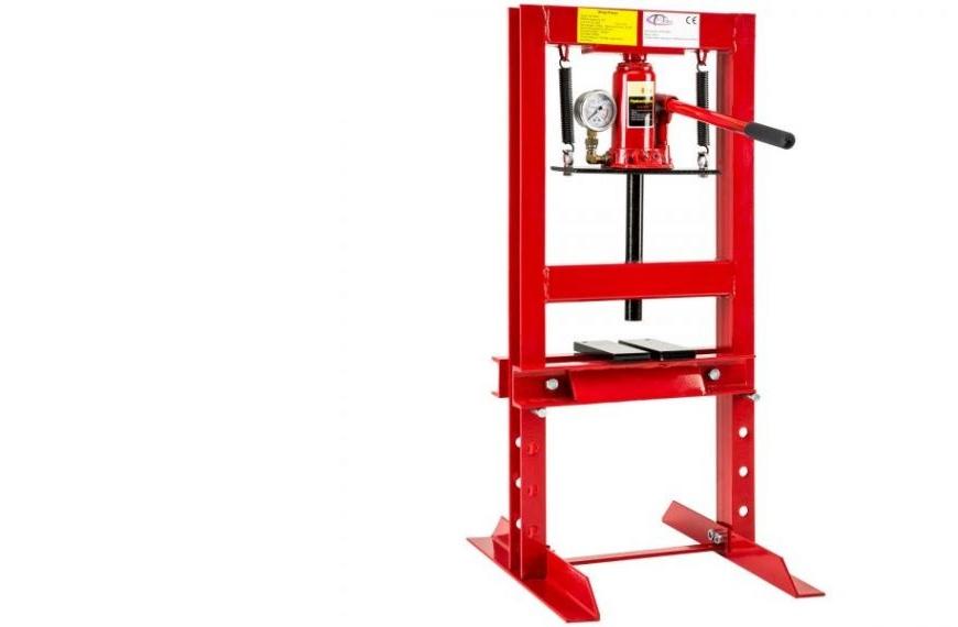 Hidraulikus prés, műhelyprés nyomásmérővel, 6 t nyomáserő